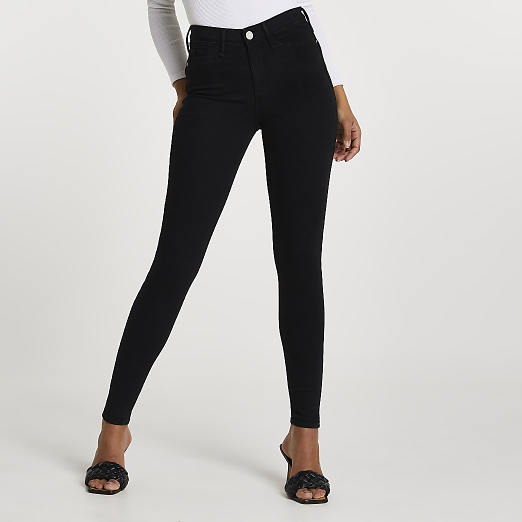 Black Molly mid rise sculpt jeans