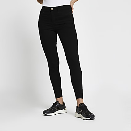 Black Molly Mid Rise Skinny Jean