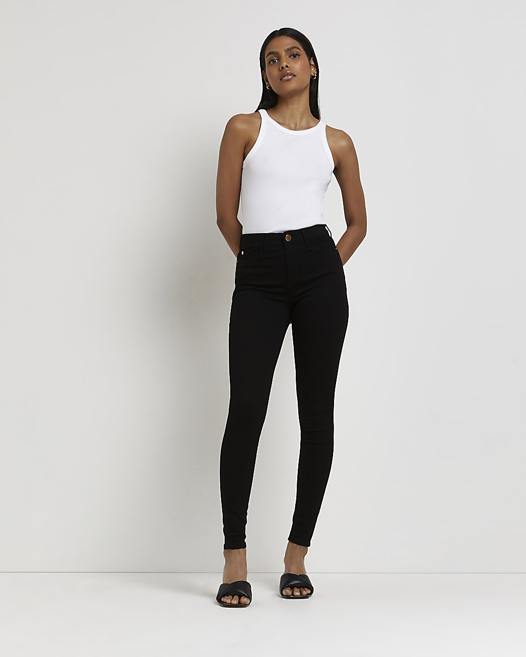 Black Molly mid rise skinny jeans