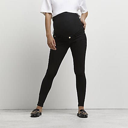 Black Molly over bump skinny maternity jeans