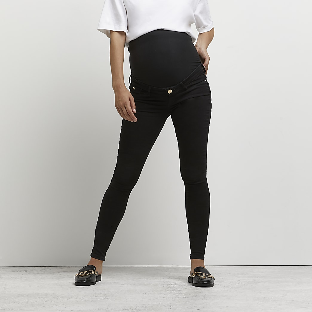 Black Molly overbump maternity jeggings