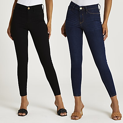 Black Molly skinny jeans pack of 2