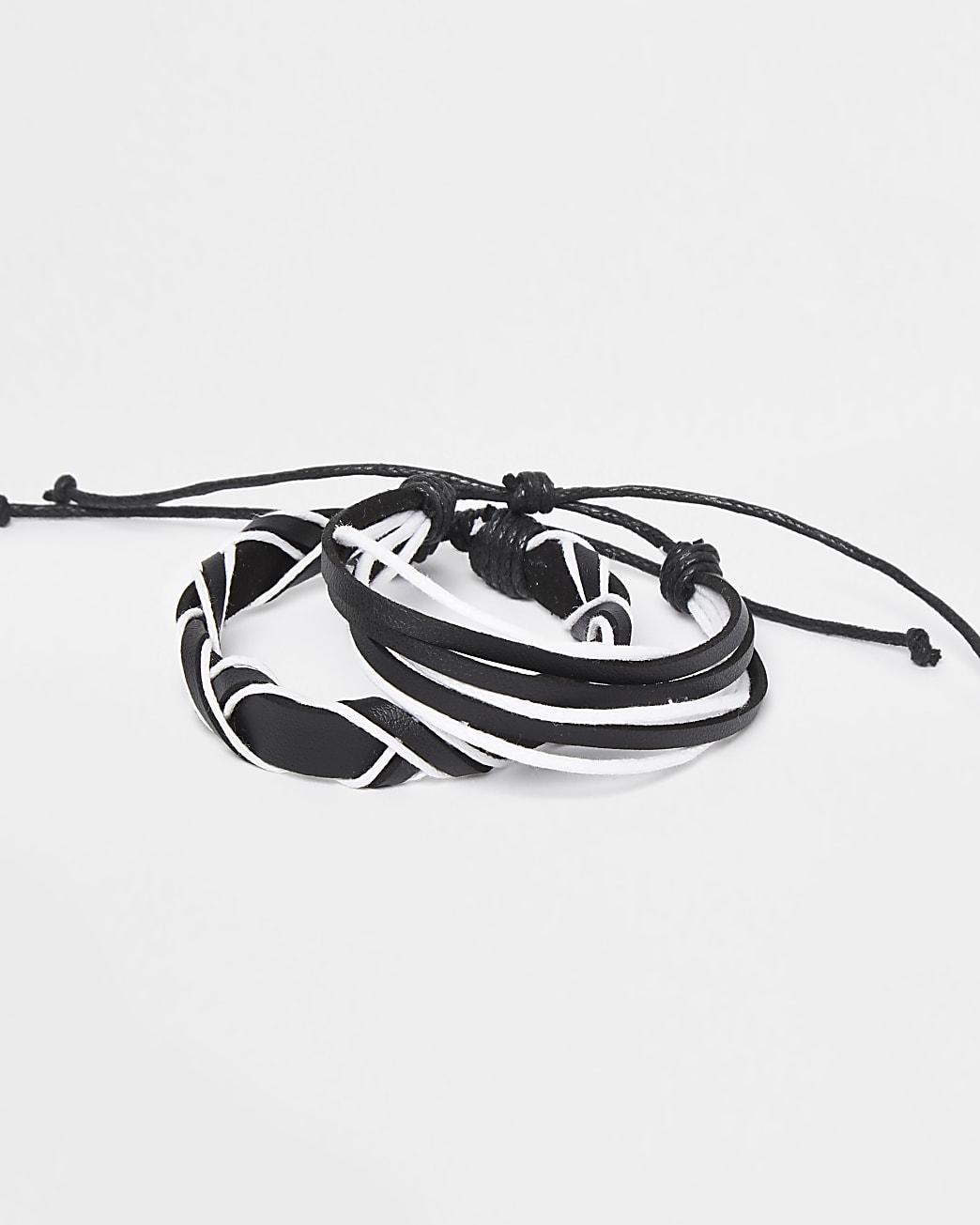 Black mono bracelet multipack