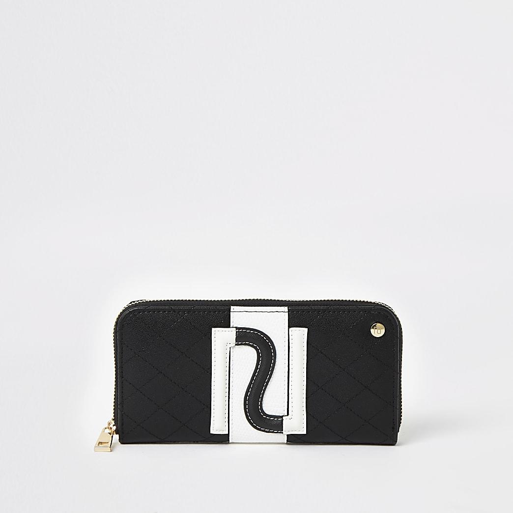 Portefeuille RIzippénoir et blanc