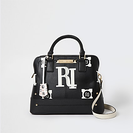 Black monogram bag