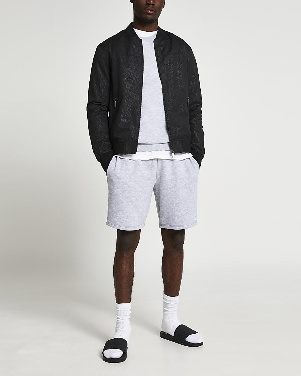 Black monogram bomber jacket