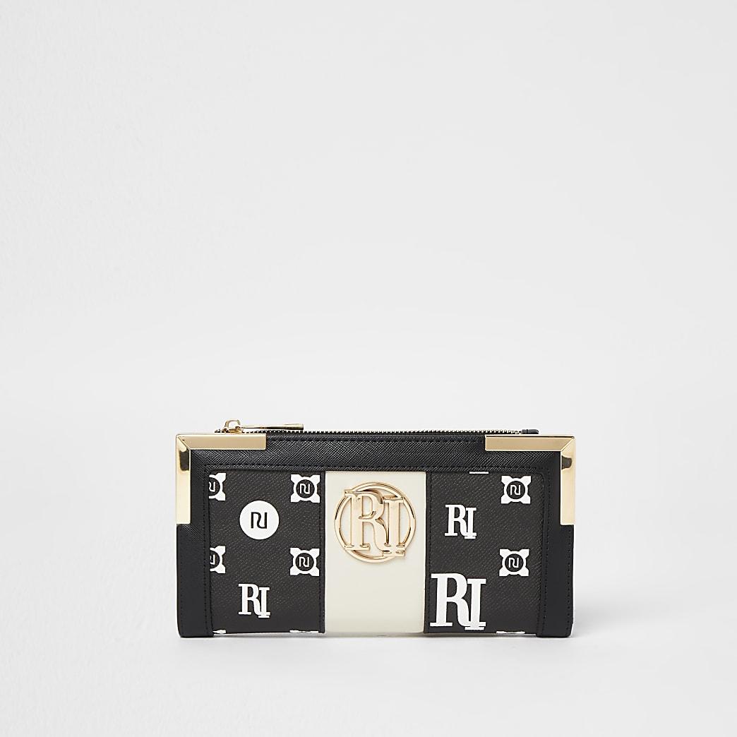 Black monogram purse