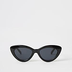 Lunettes de soleil yeux de chats minces noires