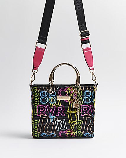 Black neon RI branded tote bag