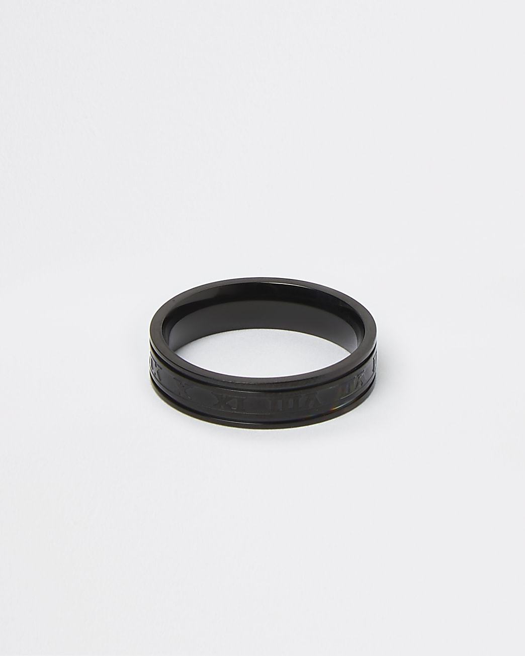 Black numerals band ring