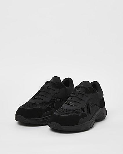 Black NUSHU chunky trainers