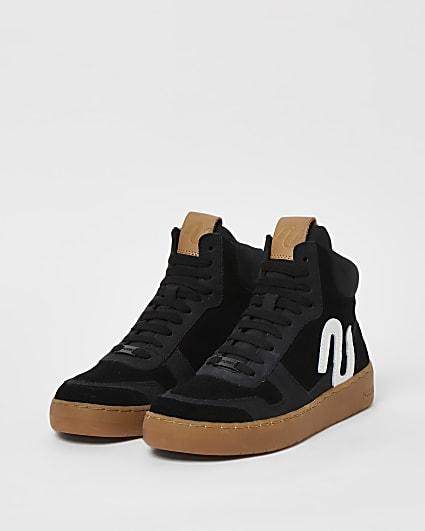 Black NUSHU high top trainers