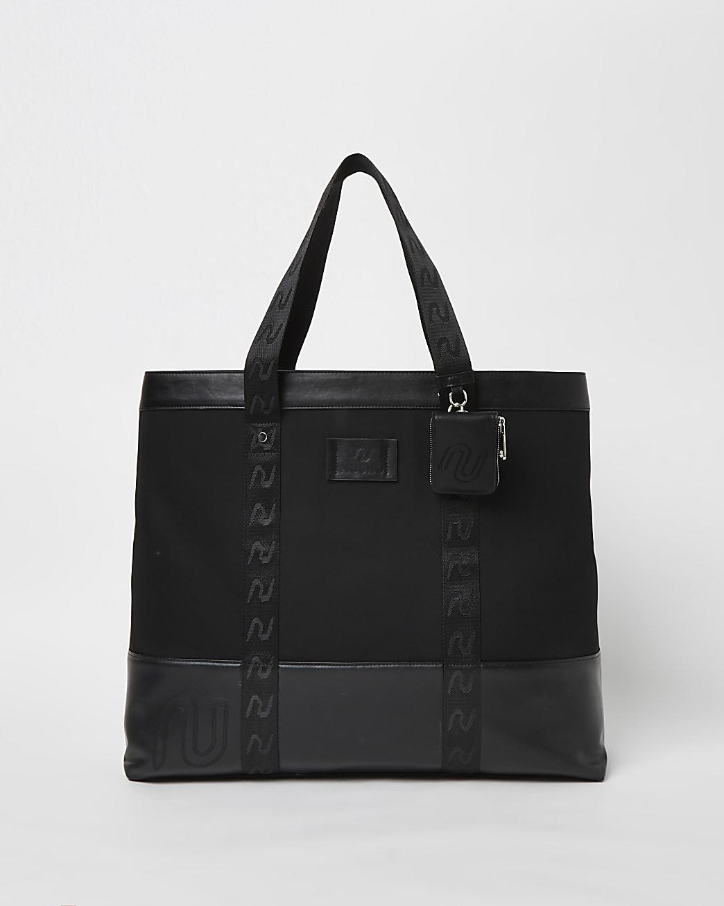 Black NUSHU shopper bag