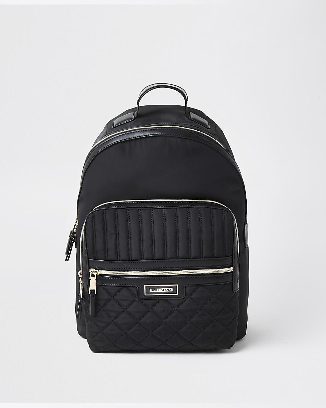Black nylon RI backpack
