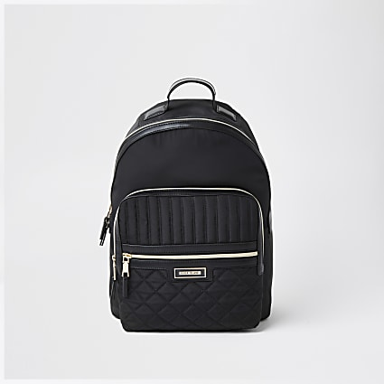 Black nylon RI backpack