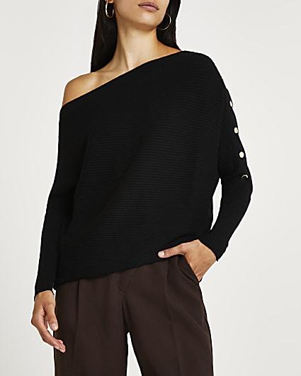 Black off the shoulder jumper