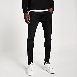 Ollie – Jean ultra-skinny noir déchiré