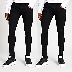 Black Ollie skinny denim jeans 2 pack
