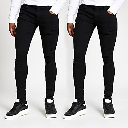 Black Ollie skinny denim jeans 2 pack
