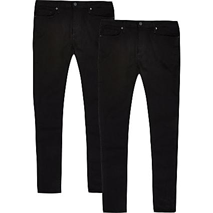Black Ollie spray on skinny jeans 2 pack