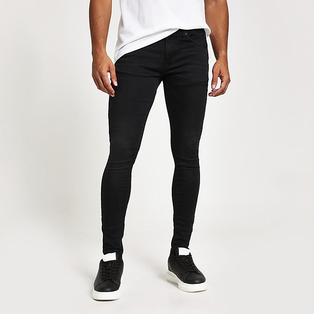 Ollie - Zwarte superskinny spray-on jeans