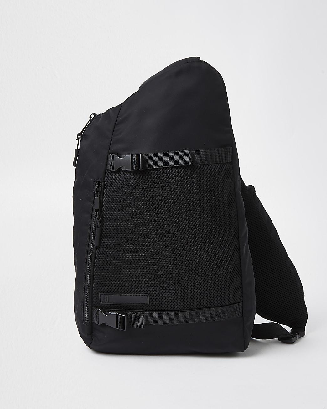 Black one strap rucksack