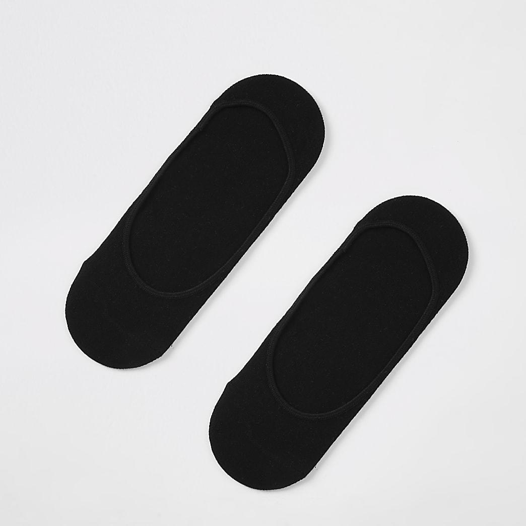 Black open trainer liner socks