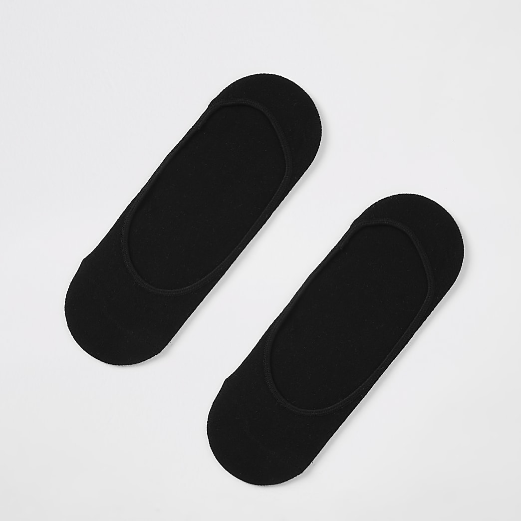 {[#0]} paar zwarte open sportsokken