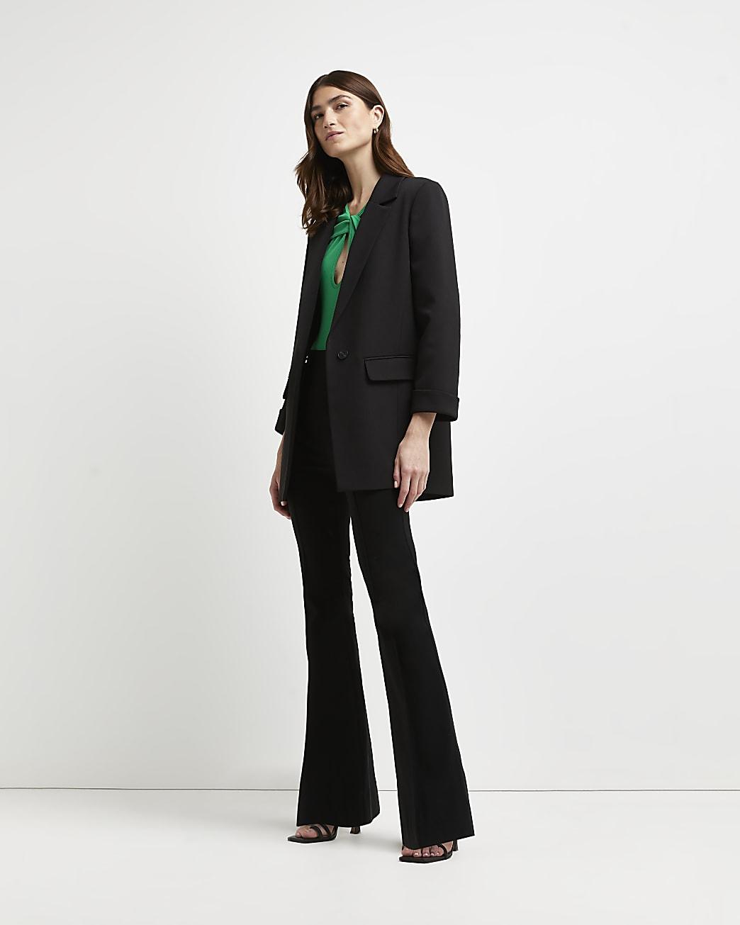 Black oversized blazer