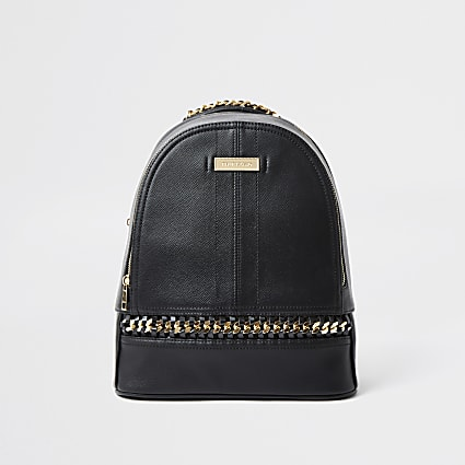 Black oversized chain rucksack