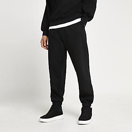 Black oversized joggers
