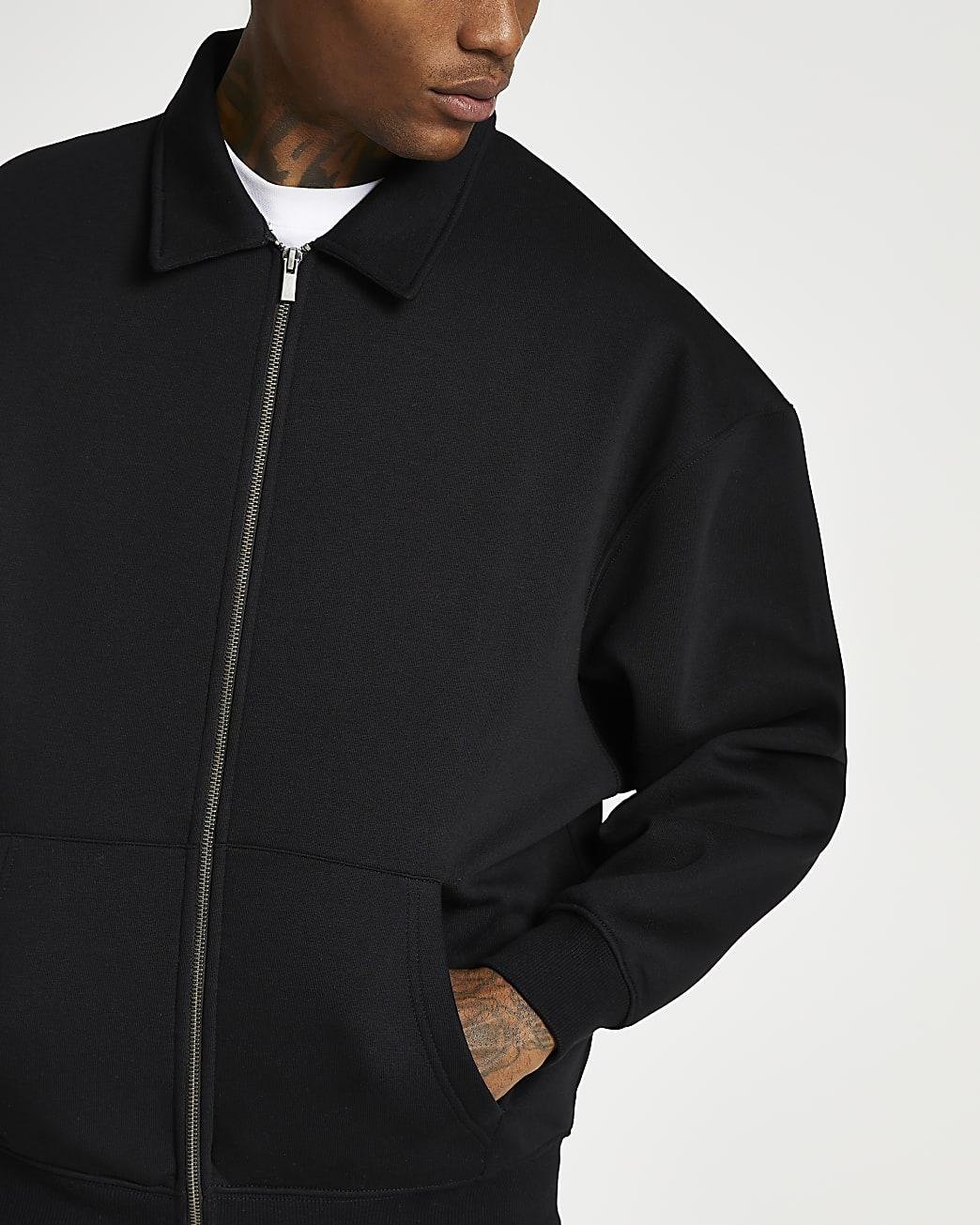 Black oversized shacket
