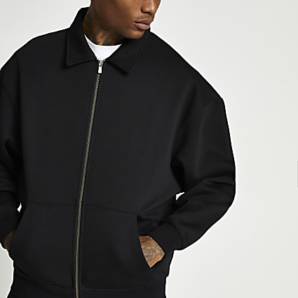 Black oversized shacket