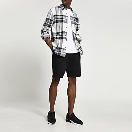 Black oversized shorts