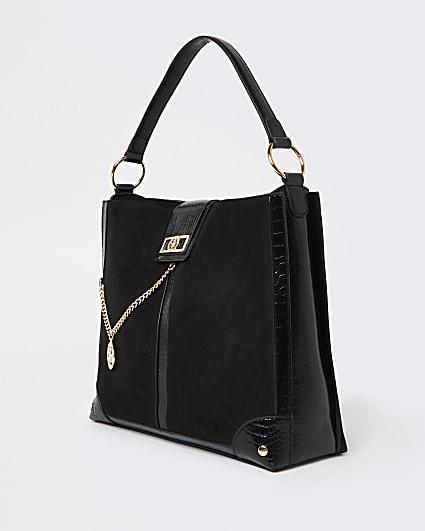 Black oversized slouch bag