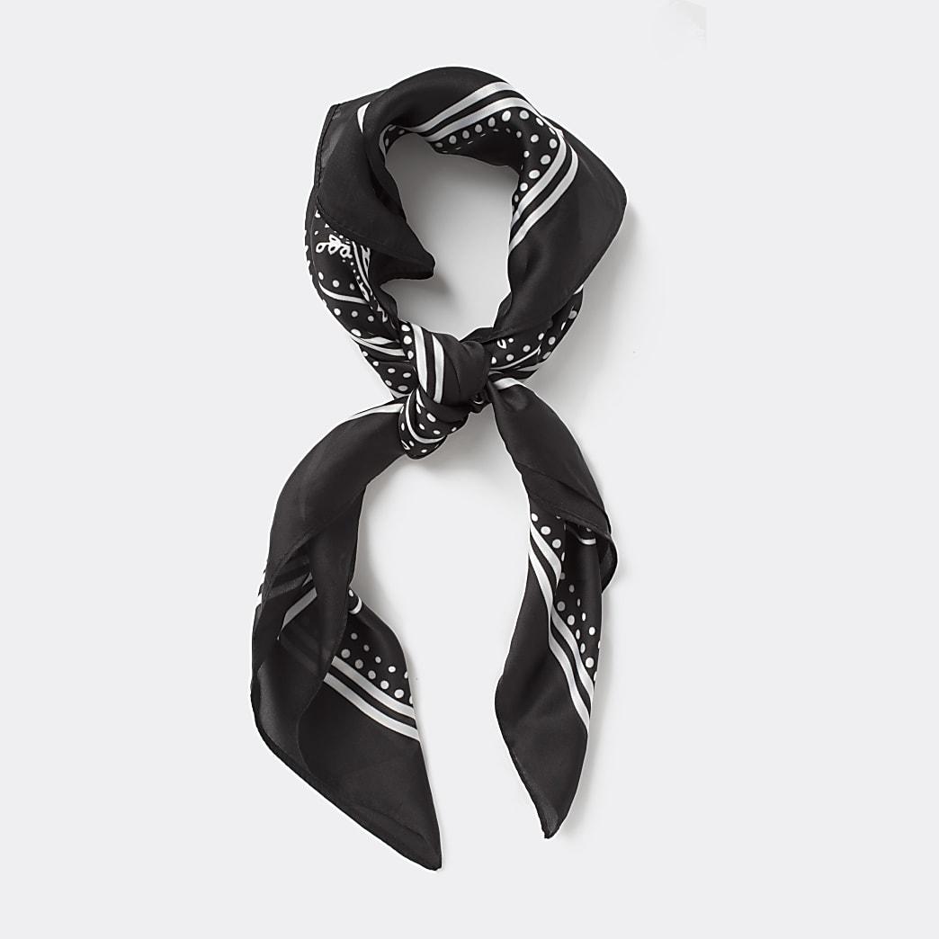 Black paisley print bandana