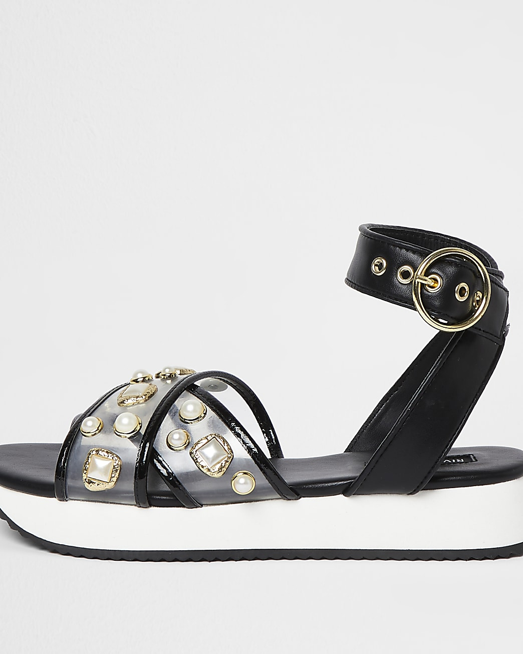 Black pearl sports sandals