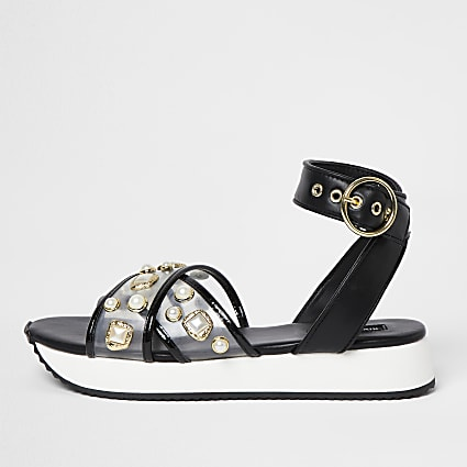 Black pearl sports sandals