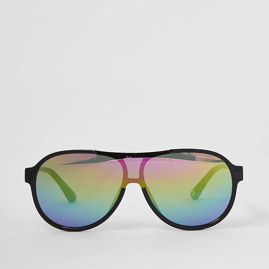 Schwarze Sonnenbrille aus Kunststoff