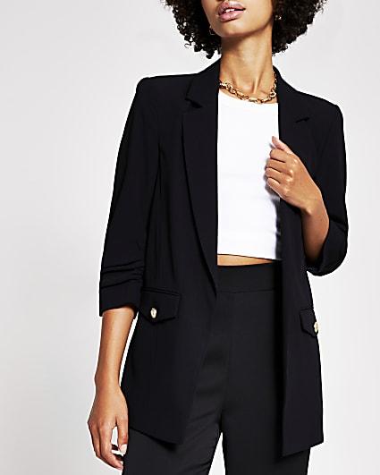 Black pocket detail blazer