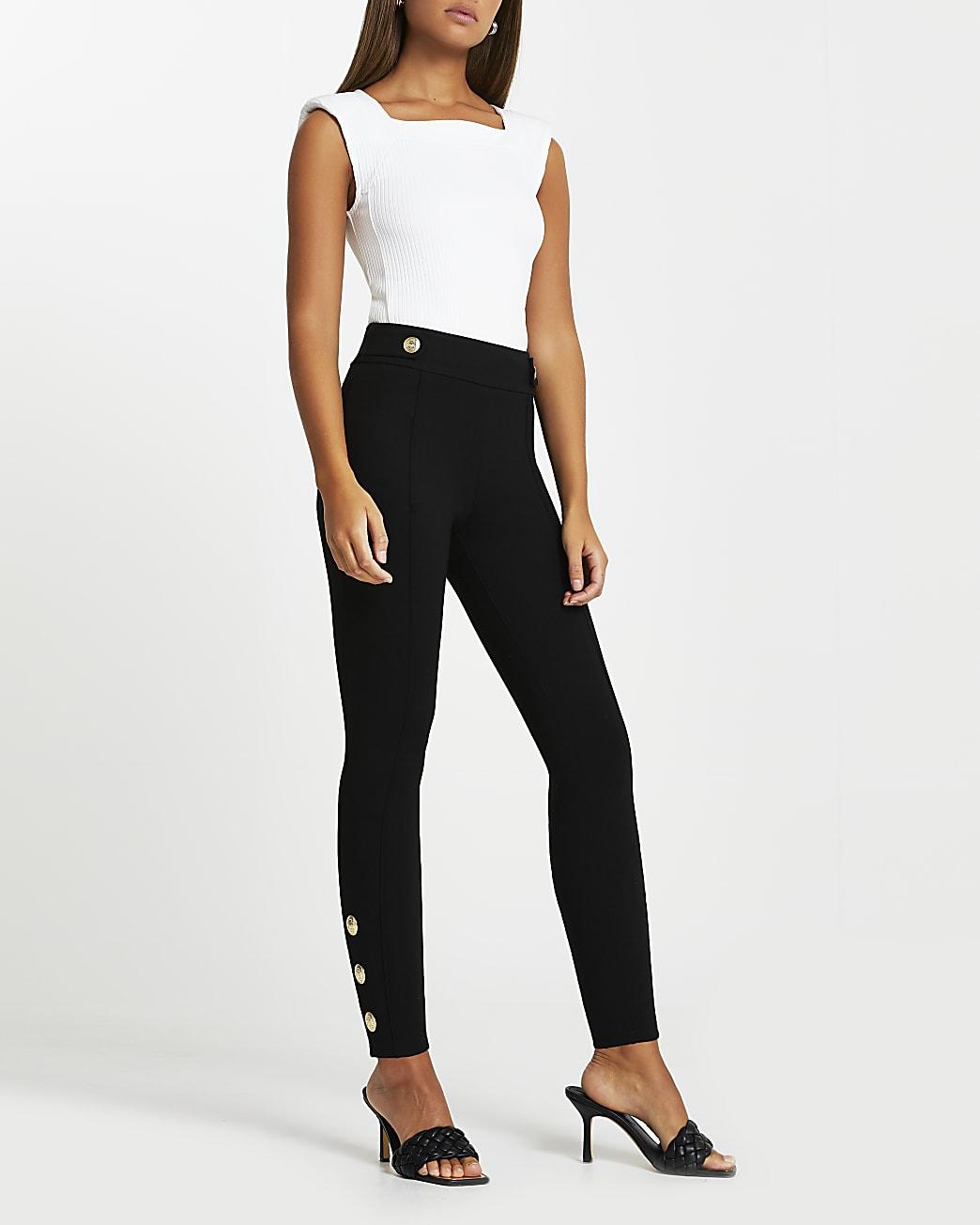Black ponte leggings