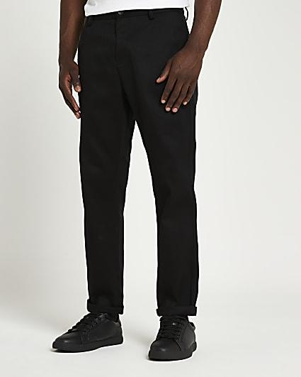 Black premium chino trousers