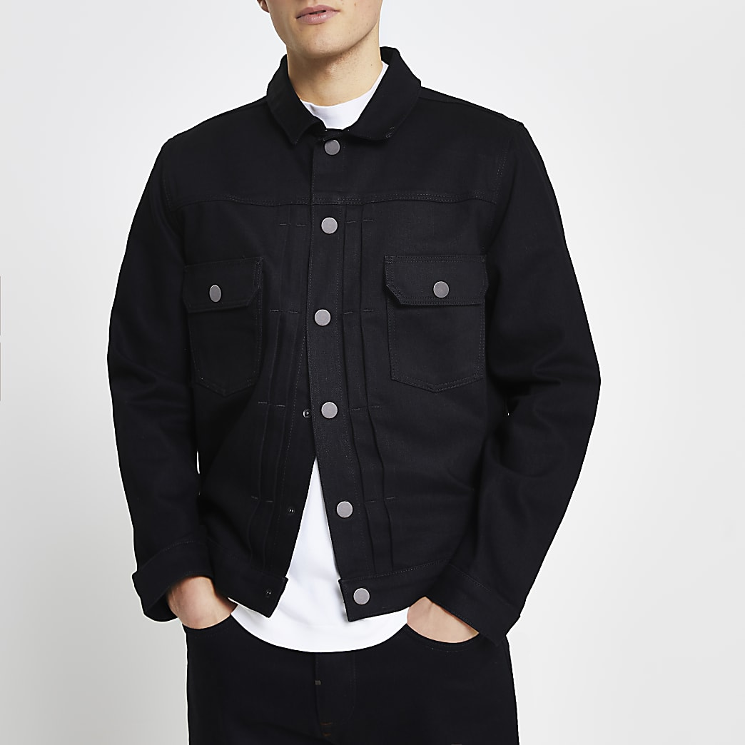 Black premium denim jacket