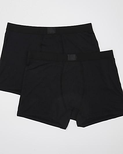 Black premium essentials trunks 2 pack