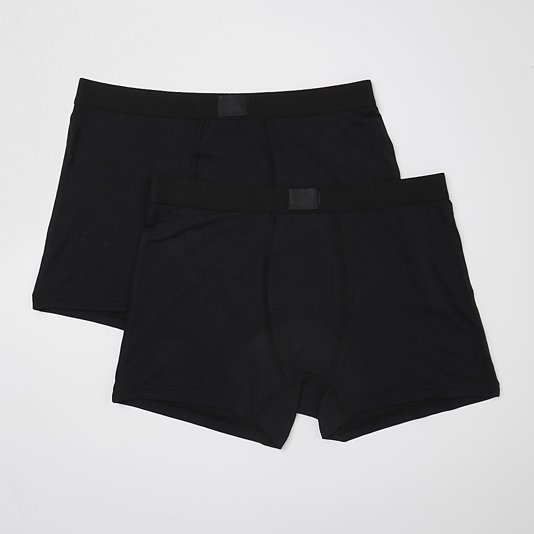 Black premium essentials trunks 2 pack