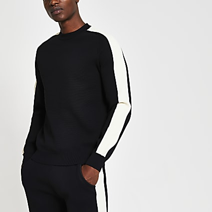 Black premium long sleeve sweatshirt