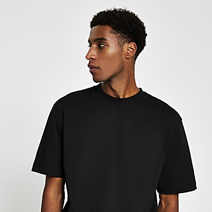 Black premium oversized fit T-shirt