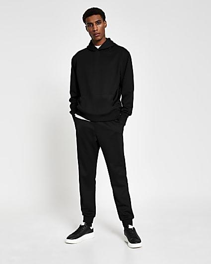 Black premium regular fit hoodie
