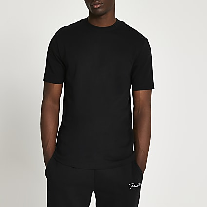 Black premium slim fit t-shirt