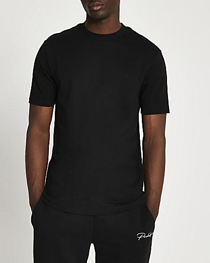 Black premium slim fit t-shirt